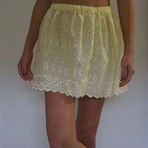 Spring yellow skirt